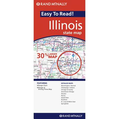 Rand Mcnally Easy to Read Illinois By Rand McNally and Company (COR)